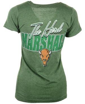 Royce Apparel Inc Women's Short-Sleeve Marshall Thundering Herd Bira T-Shirt - Green XL