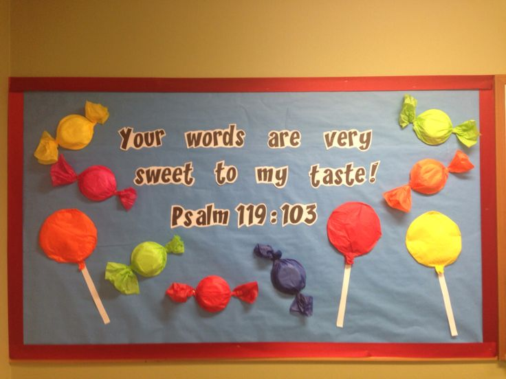 Candy bulletin board- all you need is paper plates and bowls + tissue paper.