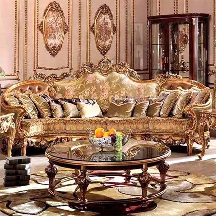 Antique Wood Carving Sofa Living Furniture 2108 Luxury Sofa Living Room Living Furniture Furniture