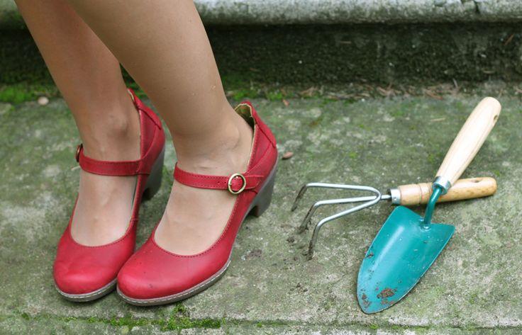 Babies écologiques / Chaussures écologiques El Naturalista // babies rouges