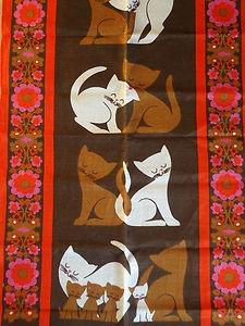 vintage fabric tea towel