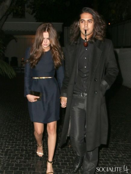 WEST HOLLYWOOD, CALIFORNIA - Monday October 21, 2013. Avan Jogia and Zoey Deutch seen leaving Chateau Marmont together in West Hollywood.