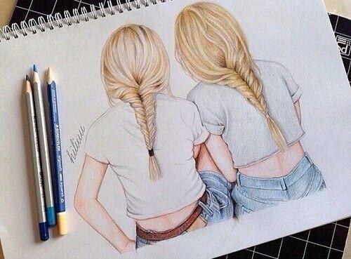 17 best ideas about best friend drawings on pinterest for Best friend drawings ideas