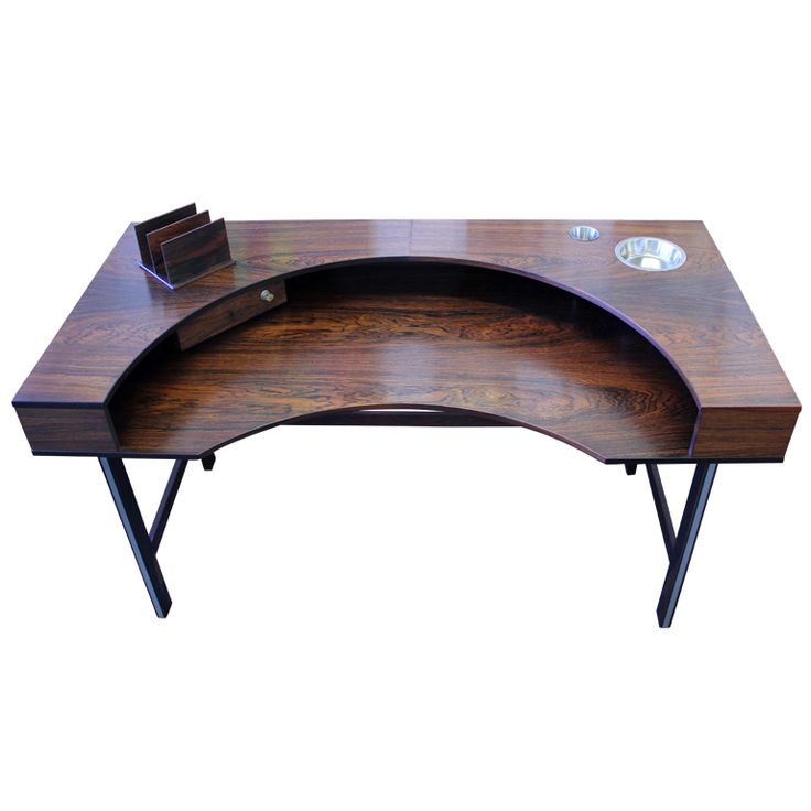 Rare Danish Modern Rosewood Desk by Lovig Dansk Designs | From a unique collection of antique and modern desks at http://www.1stdibs.com/furniture/storage-case-pieces/desks/