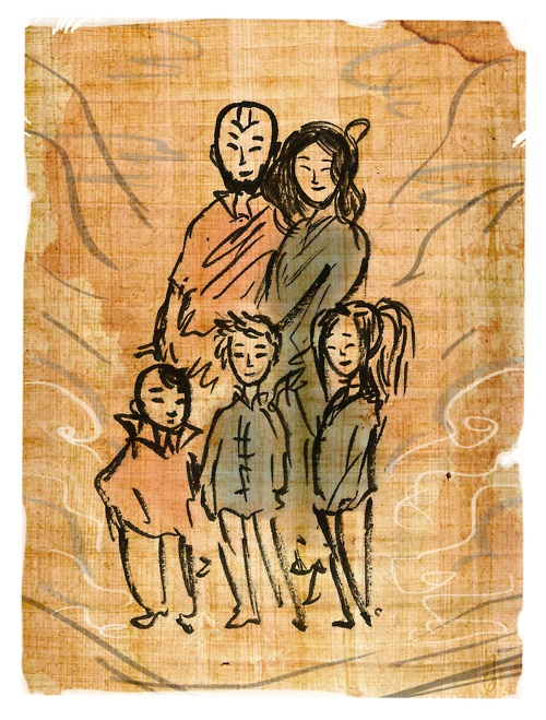 Aang, Katara & their kids