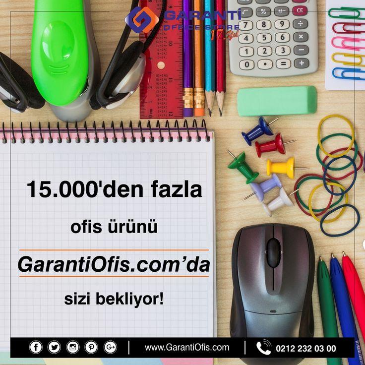 Geniş ürün yelpazesi ile sektörünün en tecrübeli ismi olan GarantiOfis.com avantajlı fiyatları cebinizin dostu olmaya devam ediyor. Fırsatlardan yararlanmak için acele edin!  #ofismalzemeleri #kirtasiye #ofiskirtasiye #burogerecleri #garantiofis