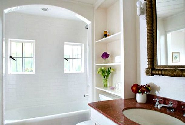 inspiration: Marilyn Monroe's house Brentwood - bathroom