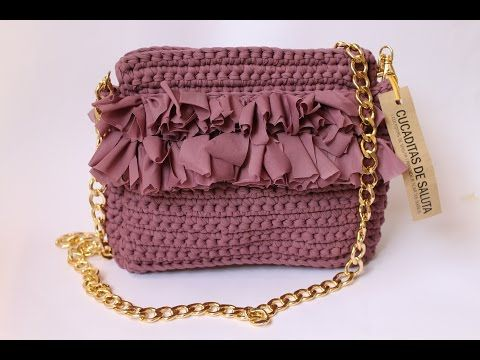 Bolso de trapillo redondo - YouTube