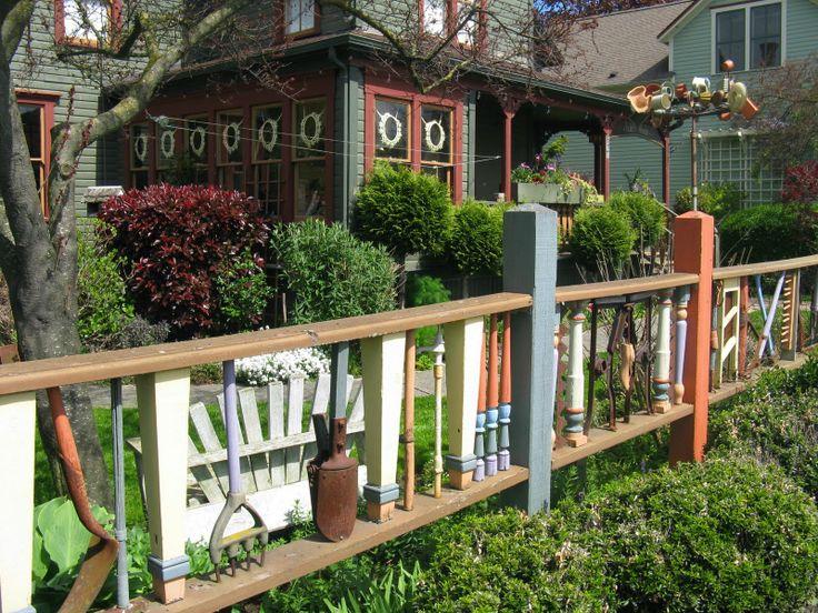 116 best unique fences images on pinterest gardening for Unique yard ideas