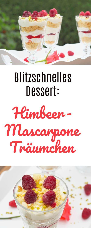 Das Himbeer-Mascarpone Träumchen ist ein blitzschnelles Dessert, welches Ihr in grad mal 10 Minuten herstellen könnte. Furchtbar lecker und mit dem Thermomix oder einem Mixer in kürzester Zeit hergestellt. Sehr erfrischend.