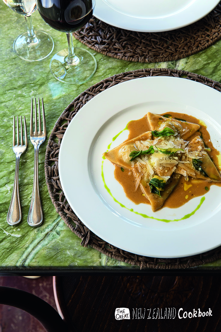 A classic at Poderi: Ravioli alla Piemontese! Pss.. you can find out how to prepare them on the 2015 Grand NZ Cookbook!