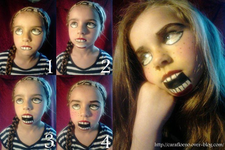 1000 id es propos de maquillage de poup e effrayant sur pinterest maquillage de poup e - Maquillage poupee halloween ...