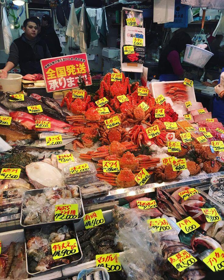 freshest of the phresh  . . . #japan #tokyo #tsukiji #fish #market #travel #explore #cities #asia #discover #adventure #live #life #food #seafood #crab #lobster #squid #myhashtagsareendless