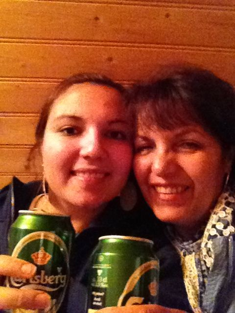 And here is an other one from Sweeden in out cabain, my mom and I were having some relaxing time with a beer in out hands.