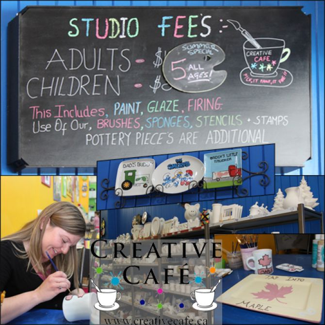 An Afternoon at Creative Cafe in Orillia, Ontario