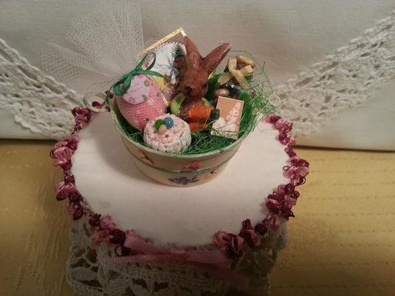 Easter  Basin  Objects  1:12 scale  dollhouse by LaboratoriodiManu