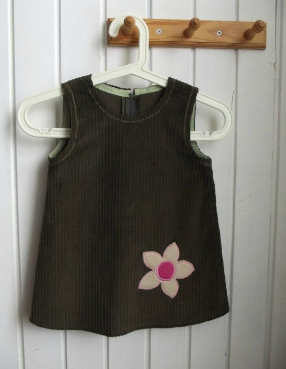 SALE    cotton sarafan  girl's  clothing  olive green  by ninaByou