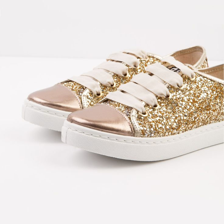 Zapatilla Glitter Dorado B&W Break&Walk
