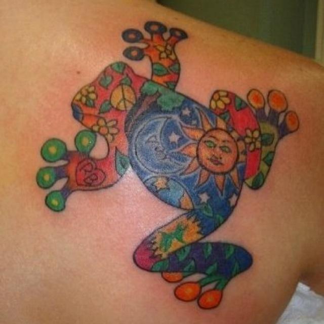 My Tree Frog Tattoo; body art