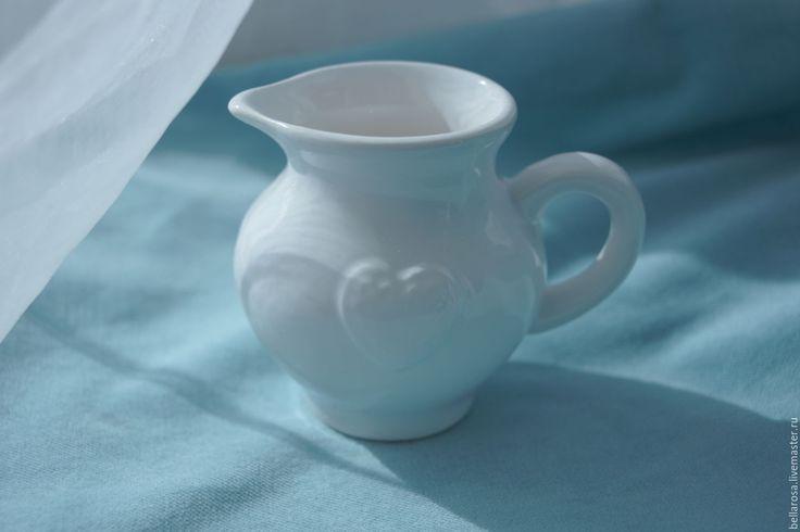 Купить Кувшинчик мини. Керамика. - белый, кувшин, ваза, цветы, Декор, флористика, подарок, кувшин