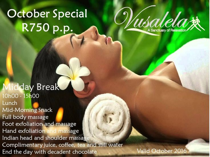 Don't miss out on our AWESOME October special!! book now to prevent disappointment... #spa #October #onceinalifetime