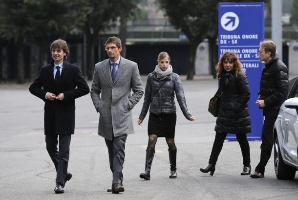 #CarolinaKostner con gli avvocati Giovanni Fontana, Massimiliano Di Girolamo e il teste Giuseppe Gambardella