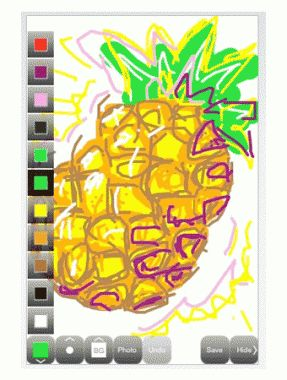 Scribble - Free, iPhone, iPod Touch and iPad, Ages 4 & up:  Lite  Turn your iPhone into a miniature sketch pad. Draw your masterpiece, then shake to erase. With tons of colors, pen sizes, and draw-on photo options, the possibilities are endless. Equally appealing: the excuse to shake an iPhone violently.