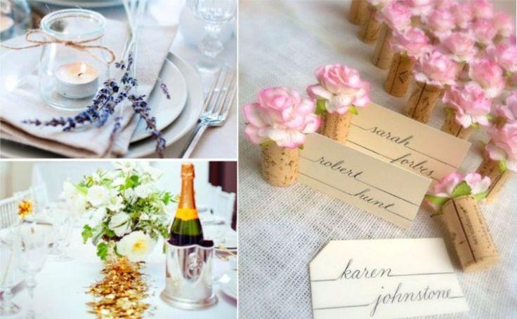 11 idées sublimes pour décorer les tables de votre mariage sans trop de frais