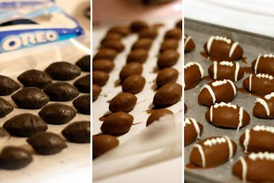 football oreo truffles-- omg! totally going to make these on game days!