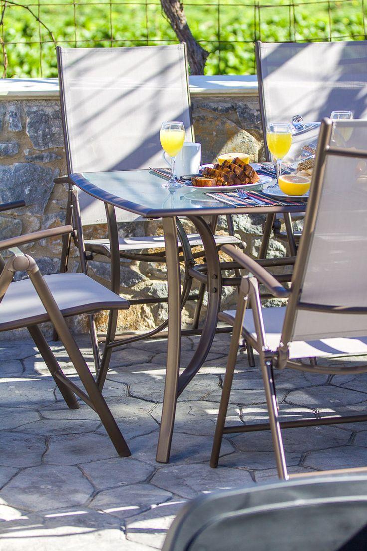 Villa Ioanna, Pigi village, Rethymno, Crete, Greece sinatsakisvillas.gr #villa #rethymno #crete #greece #village #island #vacation_rental #luxurious_accommodation #private #summer_in_crete #visit_greece #outdoors #dining_area