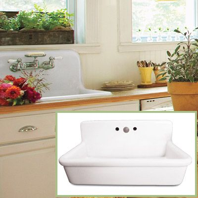 A Utility Sink And Backsplash In One, This Gently Used