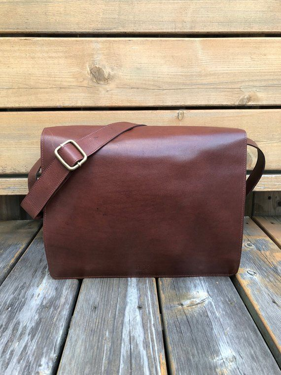 Full Grain Leather Messenger Bag 13