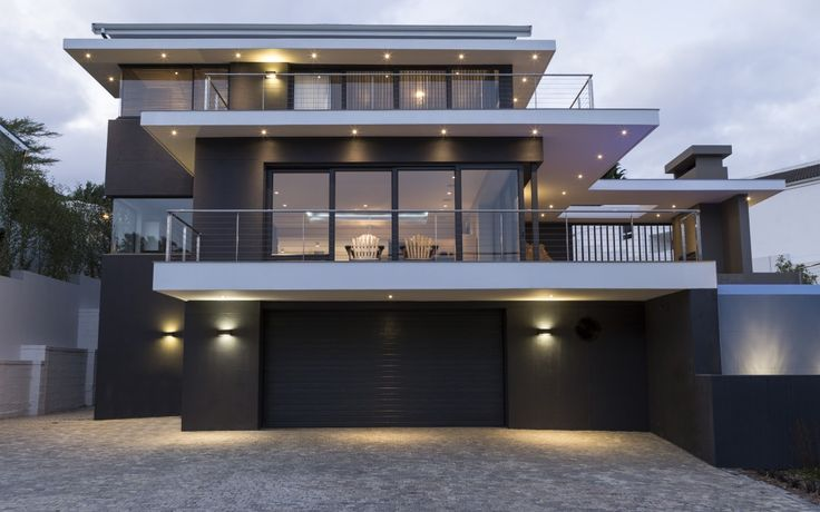 beautiful lighting, bold colours and rim flow pool