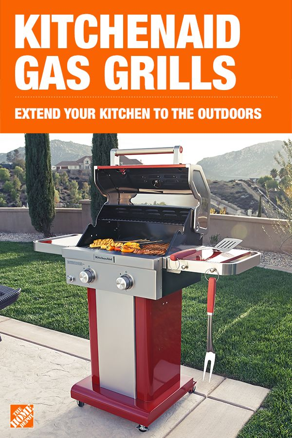 Kitchen Aid Gas Grills Cork Floors In Kitchenaid 2 Burner Propane Grill Red Outdoor Extend Your To The Outdoors With A Small Footprint And Foldable Side Shelves Of This Make It Perfect For Griller