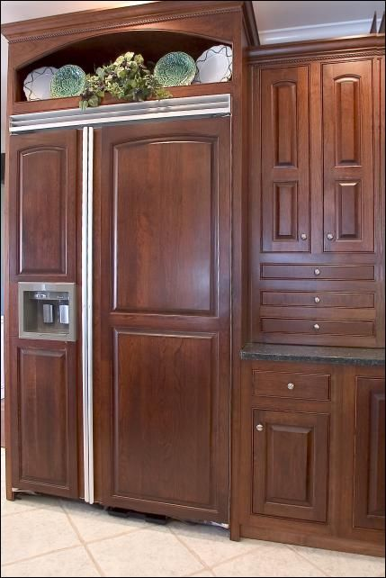 Wooden Refrigerator Cabinets ~ Best images about my remodel on pinterest kitchen