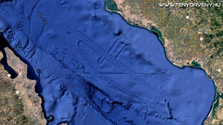 A Google Earth térképén amatőr kutatók furcsa képződményekre lettek figyelmesek a Kaliforniai-öbölben. Egy 125 km-es formációra, ami legi...