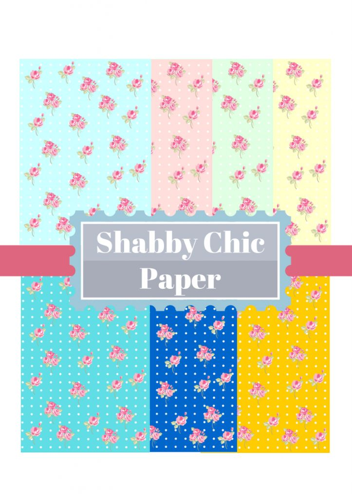 Shabby Chic free printables digital papers