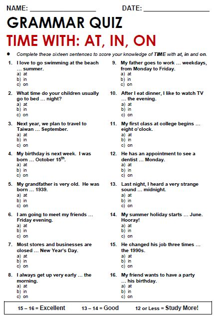 It's just a photo of Magic Printable Grammar Worksheet