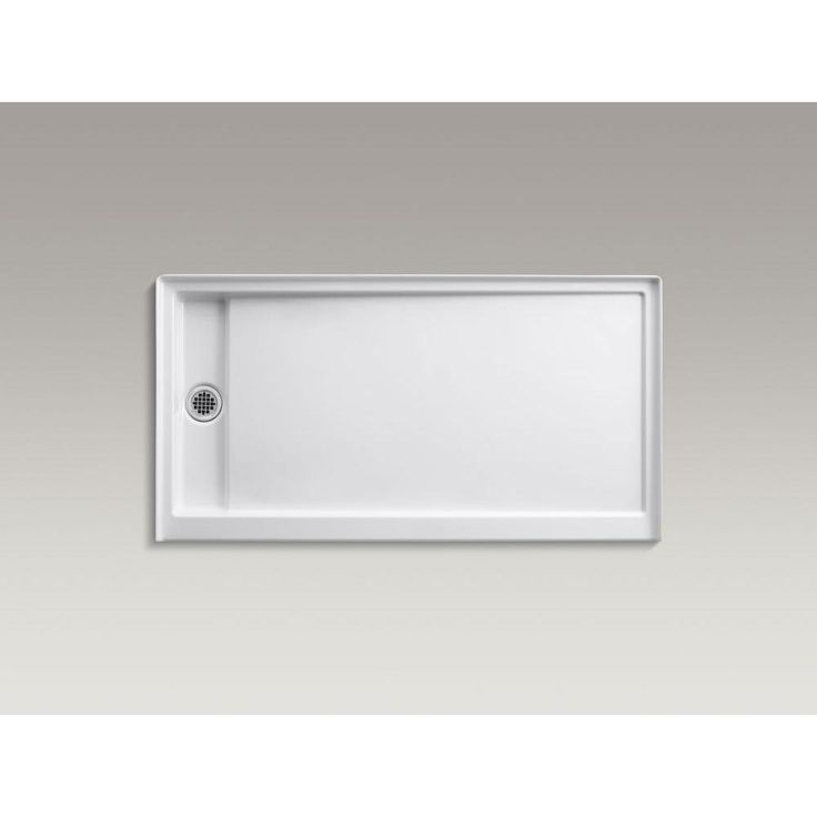 KOHLER Groove 60 in. x 32 in. Acrylic Shower Base with Left-Hand Drain in White