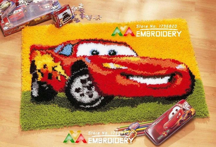 Find More Cushion Information about NEW Latch Hook Rug Kits Smile Car 3D DIY Needlework Unfinished Crocheting Rug Yarn Cushion Mat Home Decor Embroidery Carpet Rug,High Quality Cushion from DIY embroidery store on Aliexpress.com