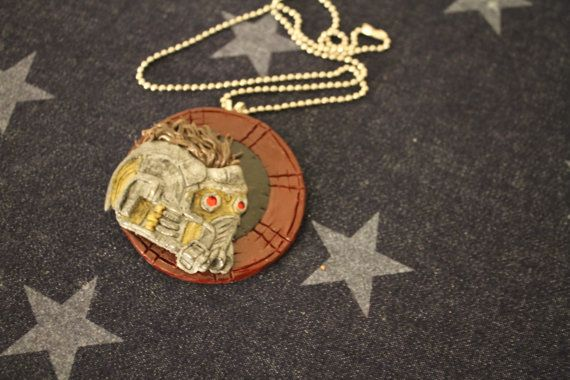 Hand sculpted Star Lord pendant from Marvels Guardians of the Galaxy. Available in my Etsy shop :)