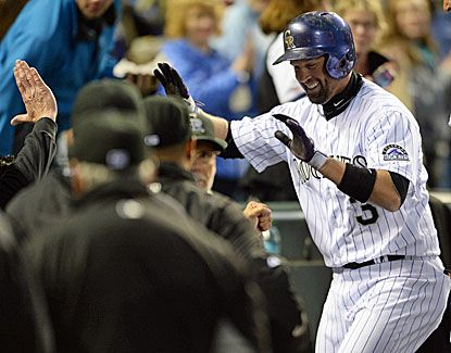 images  of colorado rockies baseball players 2013 | Colorados Michael Cuddyer is all smiles after a sixth-inning home run ...