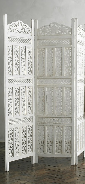 white teak Indian screen