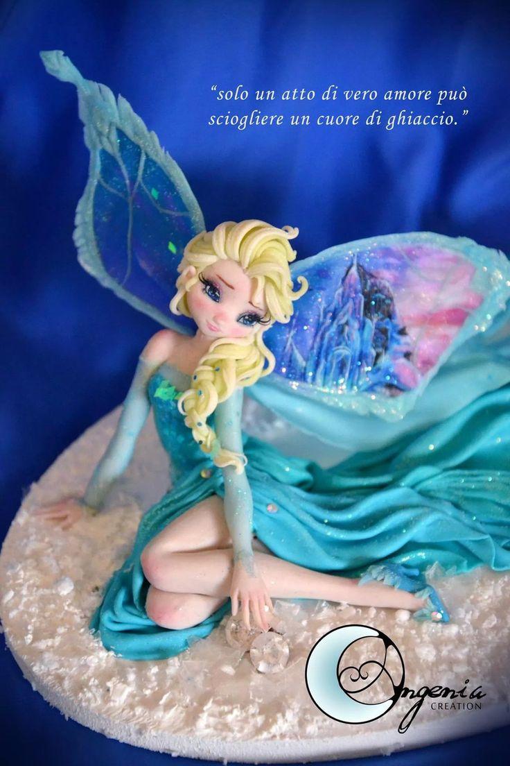 fairy elsa Snow Queen ( sold out) by AngeniaC.deviantart.com on @DeviantArt
