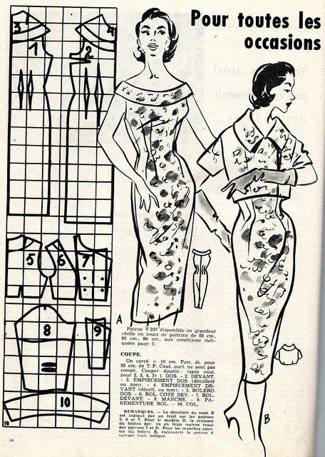 The 1950s-1956 Bonnes Soirées -fashion | Flickr - Photo Sharing!