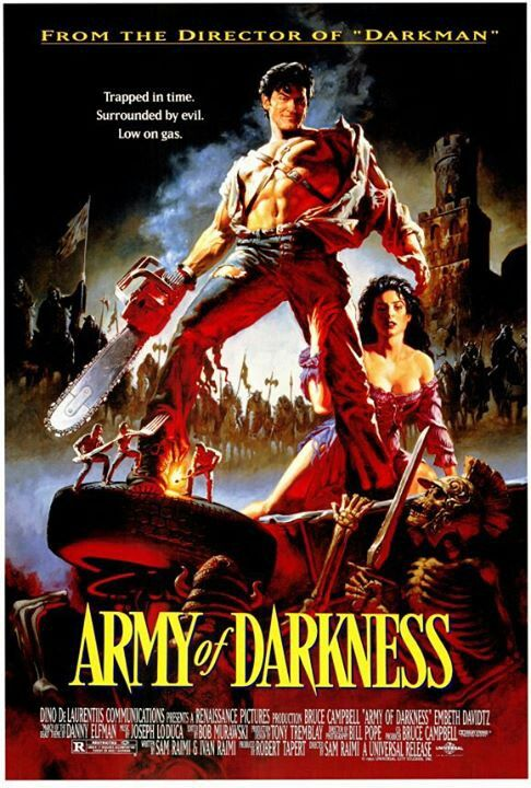 Army of Darkness-- another movie where it took me too long to see it, despite owning it. Charmingly tacky and self-aware, in only an eighties movies can be