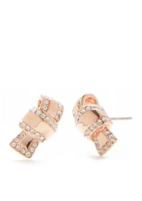 Kate Spade New York Women Rose Gold-Tone All Tied Up Stud Earrings - Rose Gold - One Size
