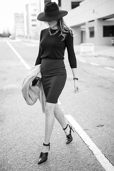 Suiteblanco Tube Skirt, Zara S Hoes, Bohochic Hat
