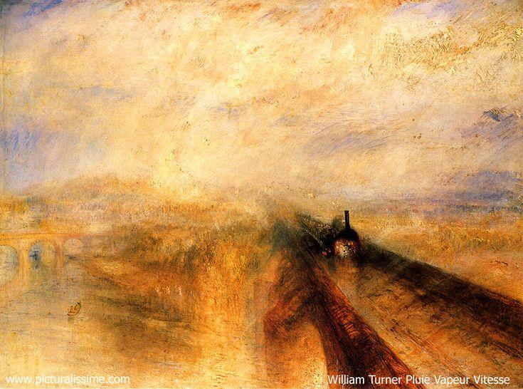 William Turner, Pluie Vapeur Vitesse, Nat.Gal. 1844 Précurseur impressionnisme