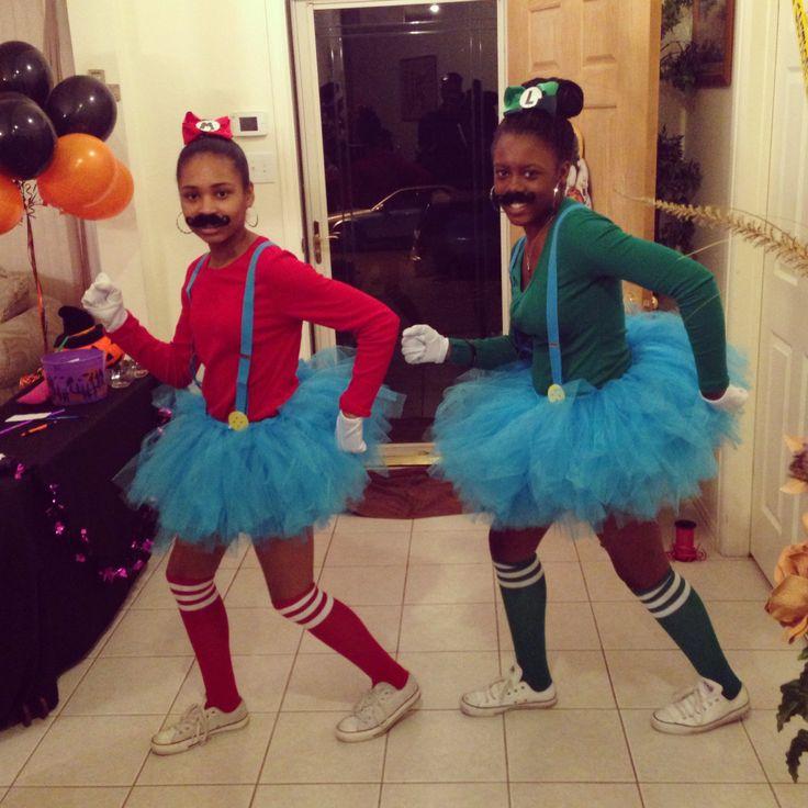 girl mario and luigi costumes - Girl Mario And Luigi Halloween Costumes